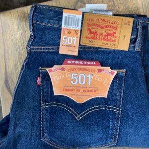 36 36 x/ Levi's 501 Stretch Denim Jeans Men's